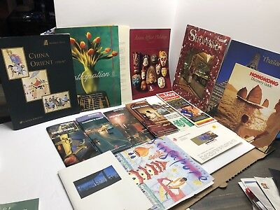 Lot of vintage Shanghai China travel brochures Tourist Advertising Singapore