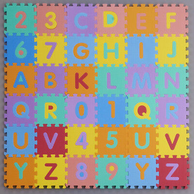 Kids Baby Mini Foam Alphabet Letters Numbers Education Mat Jigsaw Puzzle