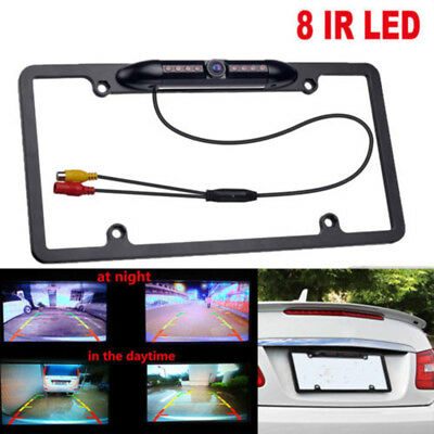 CAR LICENSE PLATE Frame Holder Rear View Backup Camera 8 IR ...