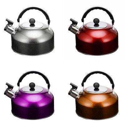 3L Stainless Steel Whistling Kettle Electric Stove Gas Hobs Camping Boat AU