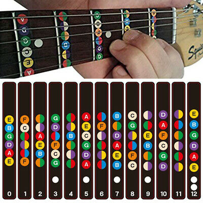 Paper Guitar Fretboard Note Decal Fingerboard Musical  Sticker For Practice
