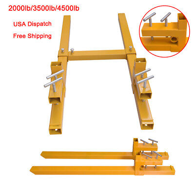 2000lbs/3500lbs/4500lbs Capacity Clamp On Pallet Forks Heavy Duty Loader Bucket