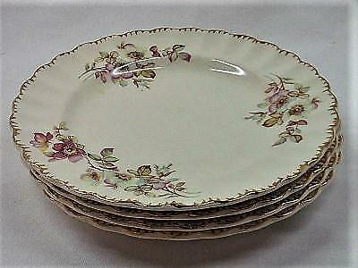 Set of 4 American Limoges 'Bramble 3K - GFE' Bread Plates