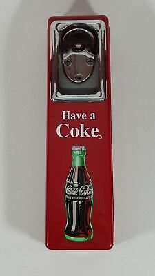Coca-Cola Bottle Opener Cap Catcher Wall Mount from 1997 Have a Coke Nice Cond.