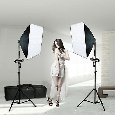 Photography Softbox Continuous Photo Video Lighting Kit Photo Light w/ Bag