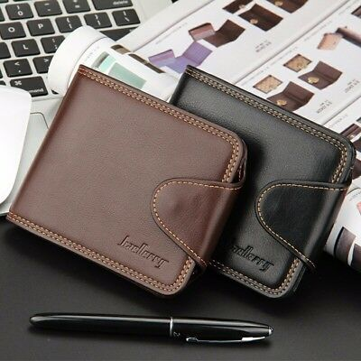 Genuine Cowhide Leather Mens Business Bifold Wallet Purse Credit Card Coin Bag