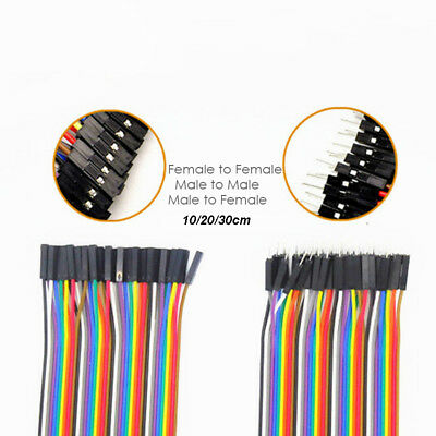 40pcs 10/20/30cm  Colorful Dupont Wire Jumper Line Female to Female Male to Male