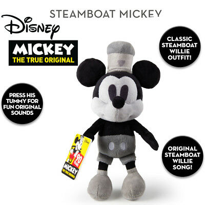 New Official Disney 90th Anniversary 30cm Steamboat Willie Mickey Mouse + Music