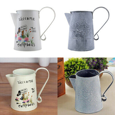 Vintage Vase Metal Watering Home Can Retro Craft Flower Gardening Iron Cans