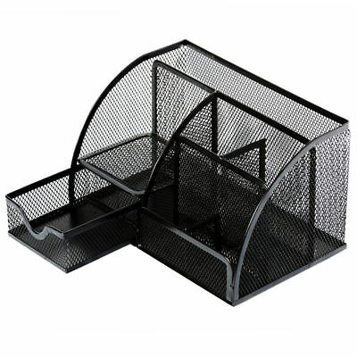 Desktop Mesh Metal Pen Pencil Holder Desk Scool Office Storage Tray Organizer 1X