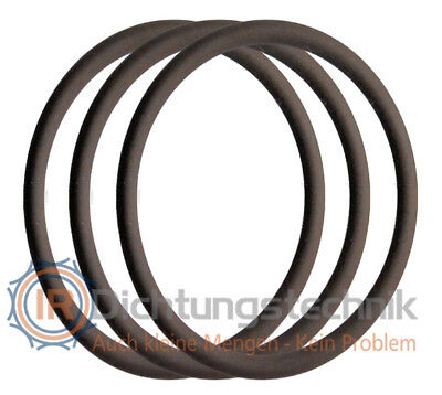 O-Ring Nullring Rundring 48,0 x 2,5 mm FKM 75 +/- 5 Shore A braun (3 St.)