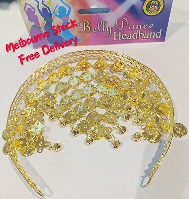 BELLY DANCE HEADBAND Indian Fancy Dress Costume Gypsy Bollywood Tribal Boho New