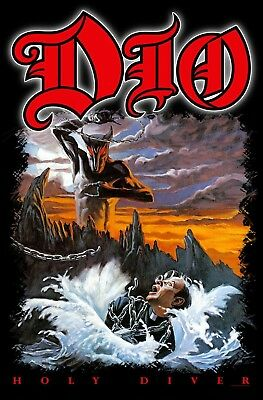"Dio - ""holy Diver"" - Large Size Textile Poster/flag - Official"