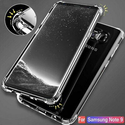 Shockproof 360° Hybrid Glass Silicone Case For Samsung Galaxy S8 S9 Plus Note 9