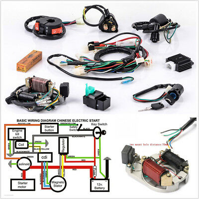 profession motorcycle cdi wire harness stator wiring kit for 5pins electric  quad