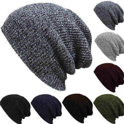 Men's Slouch Skull Cap Long Beanie Oversize Women Baggy Crochet Knit Ski Hat