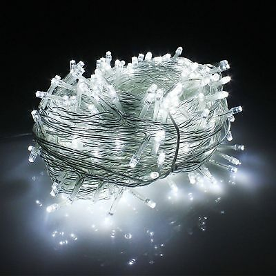 500 LED 100M White Fairy String Light Lighting Christmas Tree Xmas Party Outdoor