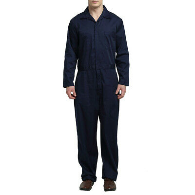 TOPTIE Men's Coverall Overall Jumpsuit Short & Long Zip Front Mechanic Working