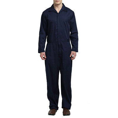 TOPTIE Men's Coverall Overall Mechanic Work Jumpsuit Short Long Sleeve Bib