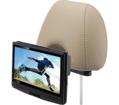 "Logik L10SPDVD17 10"" Inch Portable DVD Player W/ in Car Charger & Headrest Mount"