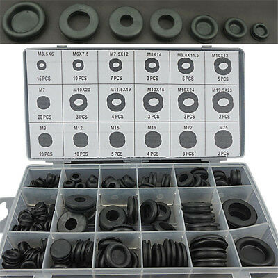 125* Rubber Grommet Firewall Hole Plug Set Electrical Wire Gasket Assortment Kit