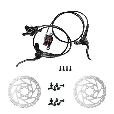 Shimano BR-BL-M355 MTB Hydraulic Disc Brakes Set With 160mm Rotors Black/White
