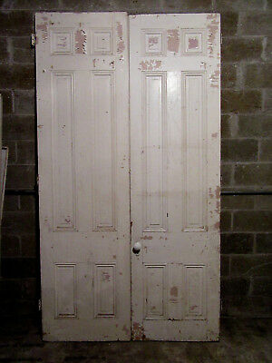 ~ ANTIQUE DOUBLE ENTRANCE FRENCH DOORS  ~ 57 x 103 ~  ARCHITECTURAL SALVAGE