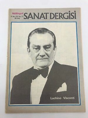 Art Magazine #177 - LUCHINO VISCONTI COVER - 1970s 70s - VERY RARE - CHEKHOV - G