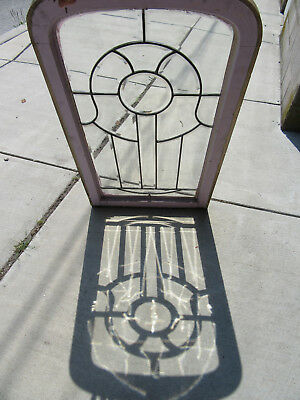 ~ Antique Full Beveled Glass Window ~ 24 X 42 ~ Architectural Salvage