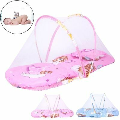 Foldable Baby Mosquito Net Crib Bed Canopy Beach Tent with Mattress & Pillow New