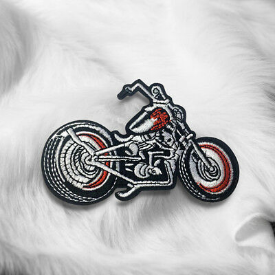 Motorcycle Scooter Embroidered Sew On Iron On Patch Badge Fabric Craft Transfer