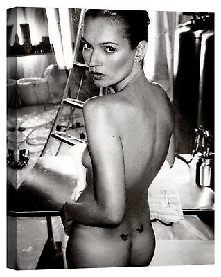 quadro kate moss square Stampa su tela Canvas effetto dipinto