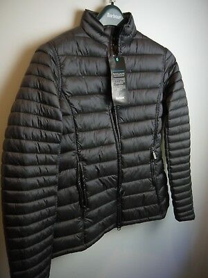 Barbour Women's Clyde Short Baffle Quilted Jacket,  NWT, Ash Gray, Size 8