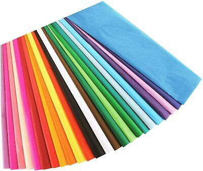 """100 Sheets of Mixed Coloured Acid Free Tissue Paper 20"""" x 30"""""""