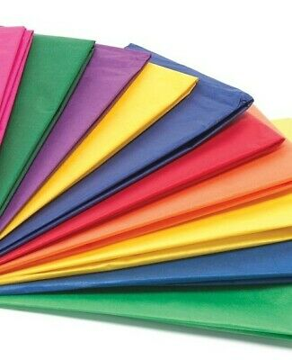 """Multi Coloured Tissue Paper / Gift Wrap / Wrapping Paper Sheets (20"""" x 30"""") - SA"""