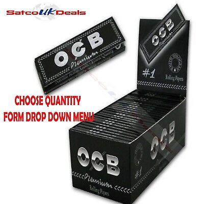 OCB BLACK STANDARD SIZE Premium Smoking Cigarette Rolling Papers Multi Buy NEW