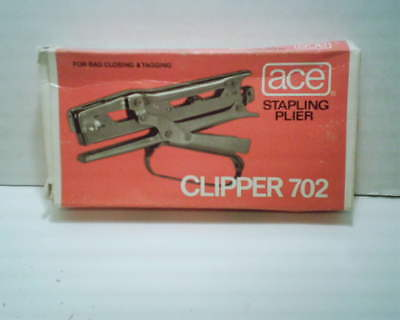 Ace Model 702 Stapling Pliers With Staples Bag Closing & Tagging Tool New