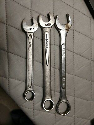 Lot of 3 - Assorted  Wrenches -  1/2, 9/16 and 13/16 inches