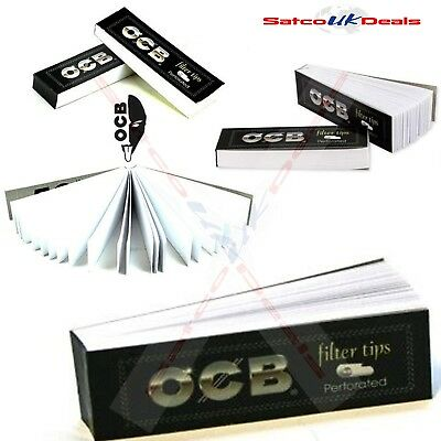 PERFORATED OCB FILTER TIPS ROACHES Easy Rolling Cardboard Smoking Papers Box NEW