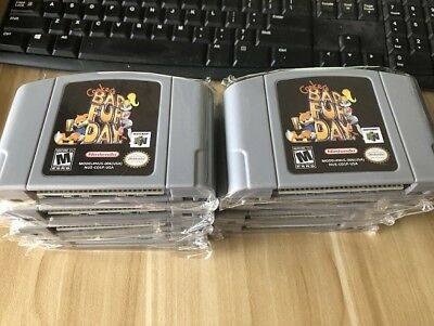 Brand New Conkers Bad Fur Day for N64 US Version game Cartridge