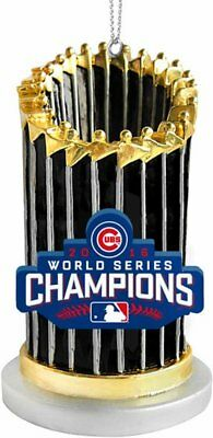 Chicago Cubs MLB 2016 World Series Champions Ornaments Trophy Ornament