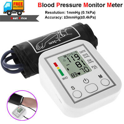 Automatic Digital Upper Arm Blood Pressure Monitor Large BP Cuff Gauge Machine