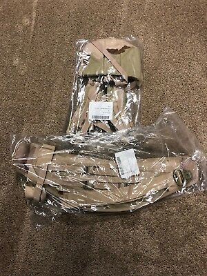 Usgi New In The Wrap Molle Ii  Desert Camo Shoulder Straps & Kidney Belt Set