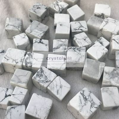 1/2lb particles Bulk Cube white Turquoise howlite Tumbled stone Healing Crystals