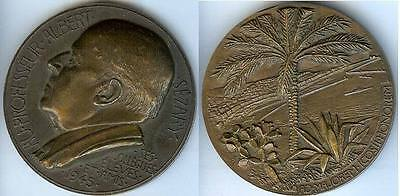 Médaille de table - SEZARY Albert professeur 1945 bronze d=68mm le port d'Alger