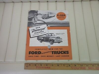1953 Ford Trucks F-350 Series Sales Brochure CDN