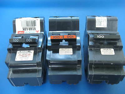 "Federal Pacific 15 Amp 1 Pole NCThin 1//2/"" USED Stab-Lok, 3 Circuit Breakers."