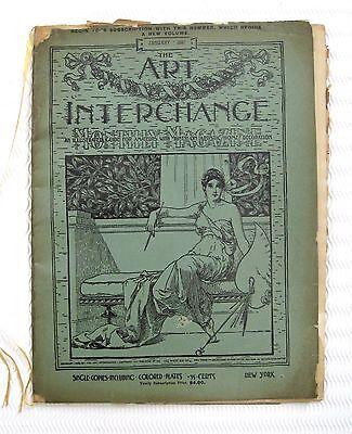 Antique THE ART INTERCHANGE January 1897 Magazine Illustrated Guide Art Home