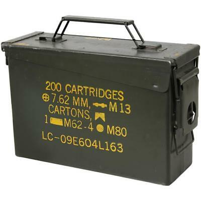 (1pack) U.S. Military Surplus M19A1 .30 Caliber Ammo Can, Used