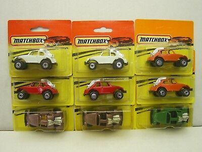 Matchbox VW Buggy Dune Man BEETLE color variations made in Bulgaria